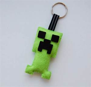 Minecraft Creeper Plush Keyring Keychain Backpack Charm
