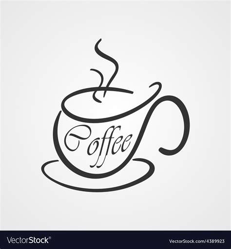 Coffee cup logo template clip art k50963969 fotosearch. Coffee cup logo Royalty Free Vector Image - VectorStock