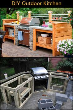 build  outdoor kitchen  wood frame    build  outdoor kitchen simple tips