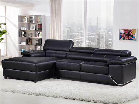 comment entretenir un canapé en cuir noir canapé d 39 angle en cuir reconstitué pvc quot quot 4 places