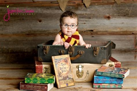 love  harry potter themed baby picture baby