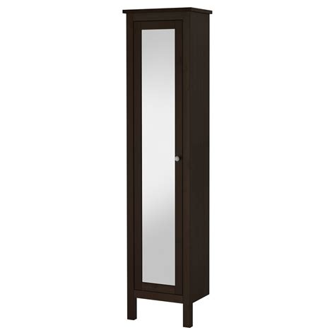 ikea bathroom cabinets with mirrors hemnes high cabinet with mirror door black brown stain