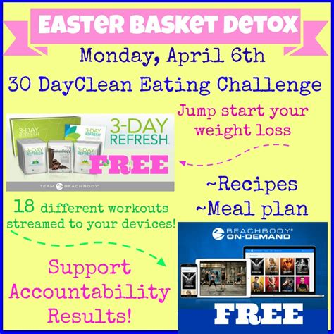 Free 3 Day Refresh And Workout Library! Easter Basket Detox!!!  Cathy L Woods