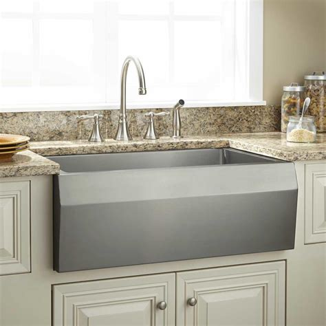 kitchen farm sinks signature hardware 30 quot optimum stainless steel farmhouse 1609