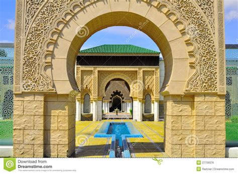 background detail moroccan gate entrance royalty