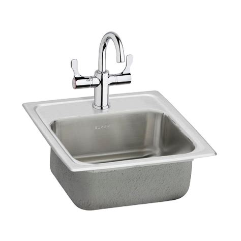 Home Depot Drop In Bar Sink by Elkay Neptune All In One Drop In Stainless Steel 15 In 2