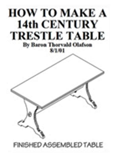 trestle table plans