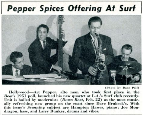 Art Pepper's First 'rainbow'