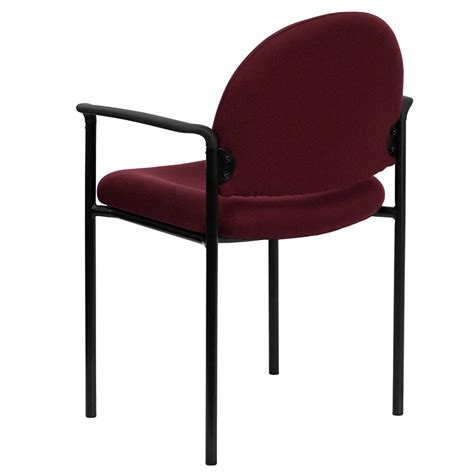 ergonomic home burgundy fabric comfortable stackable steel