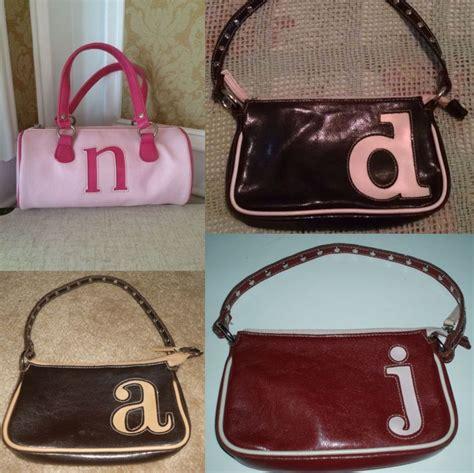middle school   girls  monogrammed purses childhood memories