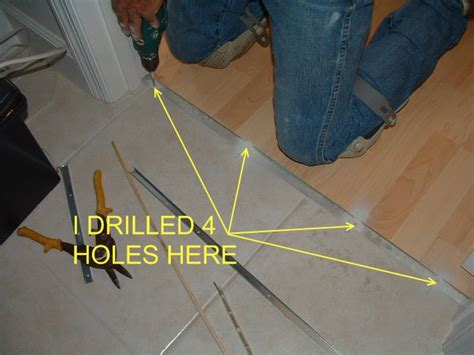 Laminate Floor Transition On Concrete by Installing Laminate Transitions Step By Step
