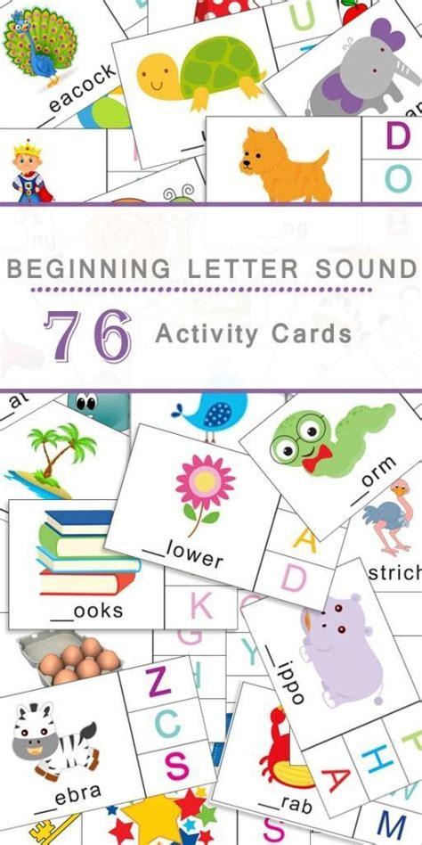 beginning letter sounds flashcards  images