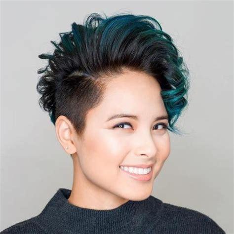 short sides turqoise mohawk asian hair hair braiding