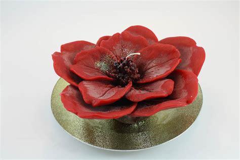 candele a fiore composizione candela fior di ciliegio profumata rosa