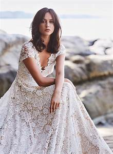boho lace wedding dress guipure lace over nude lining With nude lace wedding dress
