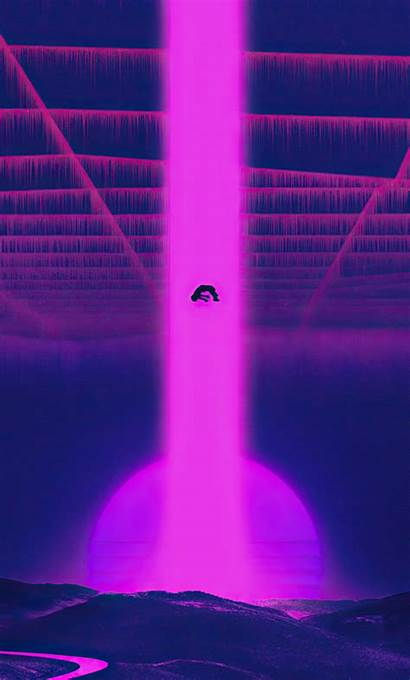 Vaporwave 4k Falling Down Wallpapers Iphone Synthwave