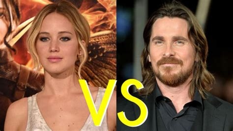 celebrity showdown jennifer lawrence  christian bale