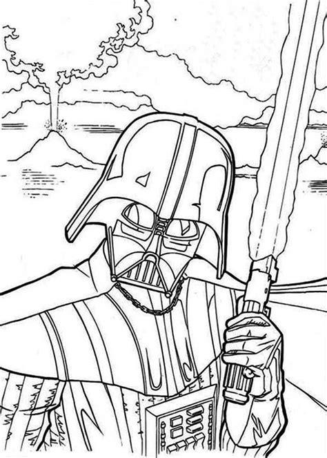 evil darth vader  star wars coloring page