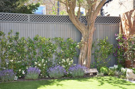 modern small garden design london designer hardwood screen ...