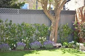 Modern, Small, Garden, Design, London, Designer, Hardwood, Screen, Bench, Bespoke, Storage, Cream, Paving