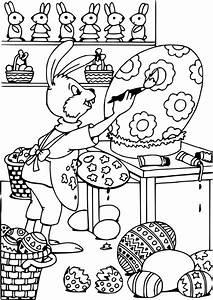 Coloriage De Paque : dessin coloriage lapin paques ~ Melissatoandfro.com Idées de Décoration