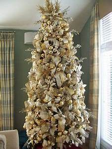 White And Gold Christmas Tree Decorations Keaoril