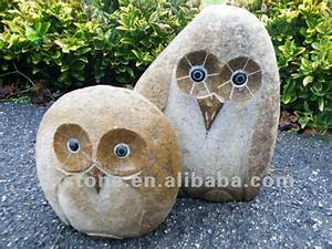 garden ornaments river stone mini owl carvings carved
