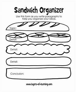 teaching kids to write their first reports layers of With sandwich template for writing