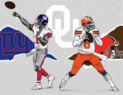 Nfl Draft Behance Football Graphics Oklahoma Reference