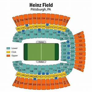 Breakdown Of The Heinz Field Seating Chart