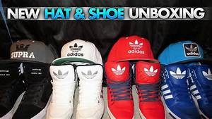 Supra Shoe & Hat Unboxing - YouTube