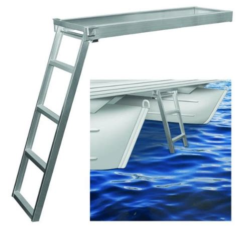 Ultimate Boat Ladder by Jif Marine Csd1 Deck Aluminum Ladder 4 Step For Flat
