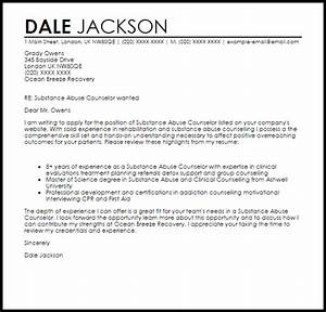 Sample Coach Cover Letter Substance Abuse Counselor Cover Letter Sample Cover