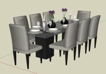 dining table  sketchup   skp cad  kb