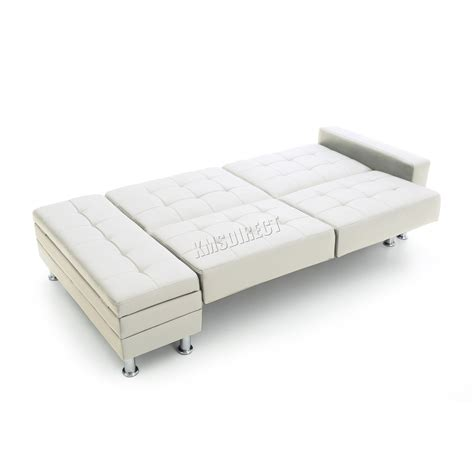 ottoman guest bed sleeper foxhunter pu sofa bed with storage 3 seater guest sleeper