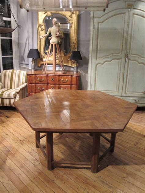 outstanding 1950s hexagonal dining table and chairs from