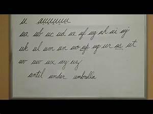 How to Connect Cursive U - American Handwriting - YouTube