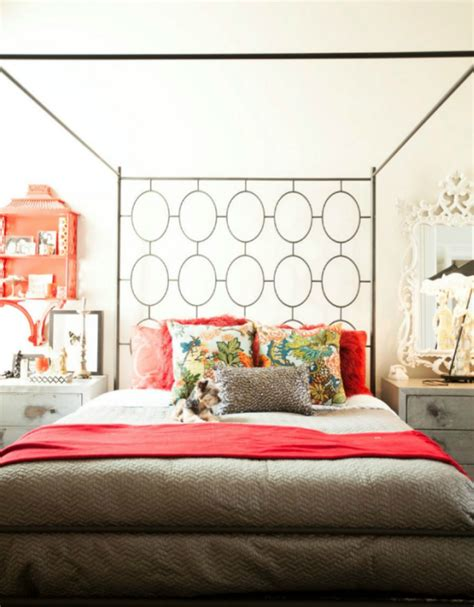 Bedroom With Red Accents  Simplified Bee