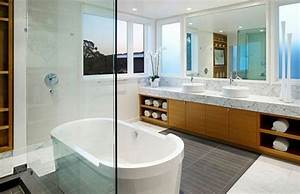 salle de bain deco scandinave en blanc et bois With meuble salle de bain style nordique