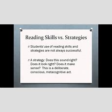 What Is The Difference Between Reading Skills And Strategies Youtube