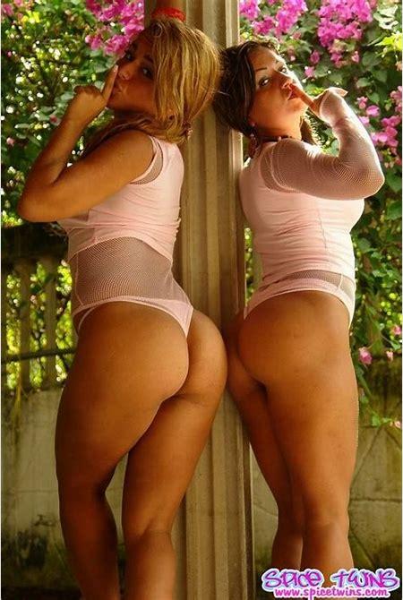 Latin twins dressed in mesh bodysuits | Nextdoor Mania