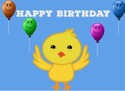 Birthday Chick Dancing Happy Wish Birth Ecards