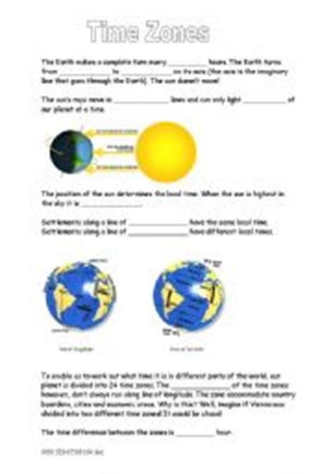 english worksheets time zones gap text