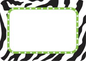 Zebra Name Tag Printable