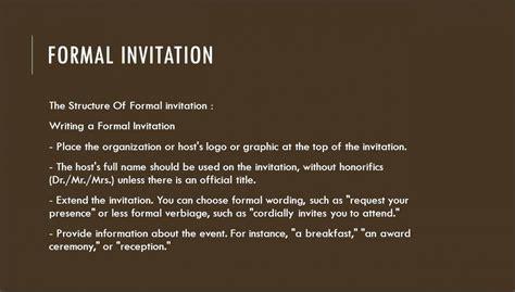 formal  informal invitation format sampletemplatess