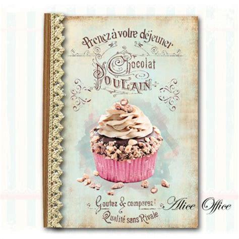 cahier de recette de cuisine cahier de recettes rétro vintage déco cupcake chocolat jolies couvertures