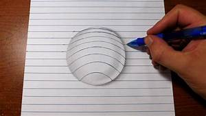 How to Draw 3D Art - Easy Line Paper Trick - YouTube
