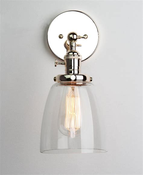 Single Light Bathroom Wall Sconce by Permo Industrial Edison Antique Single Sconce With Oval