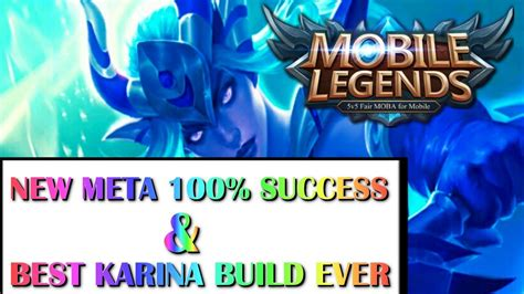 Mobile Legends New Meta & Best Karina Build Ever