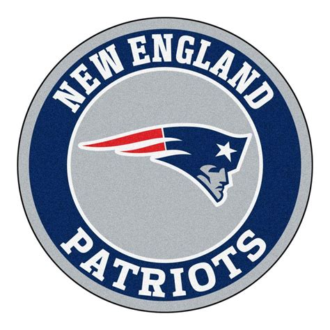 FANMATS NFL New England Patriots Navy 2 ft. x 2 ft. Round ...